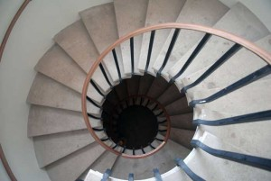 picture of spiralling stairs